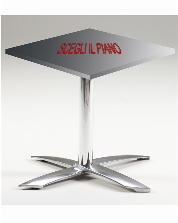 Base tavolo da esterno pieghevole in alluminio