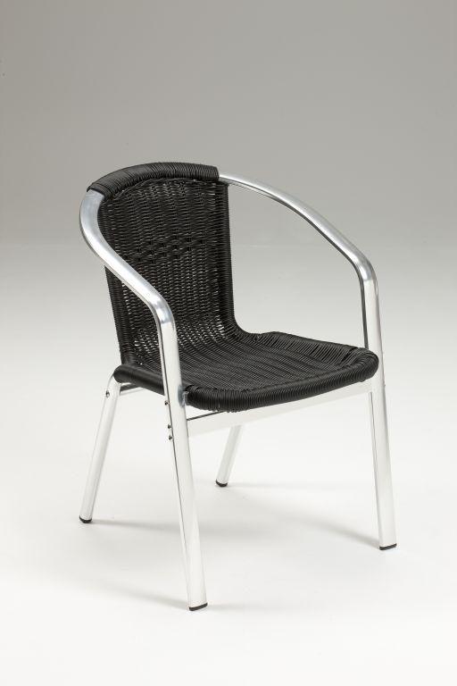 Sedia da esterno in alluminio madrid intreccio for Sedie in alluminio