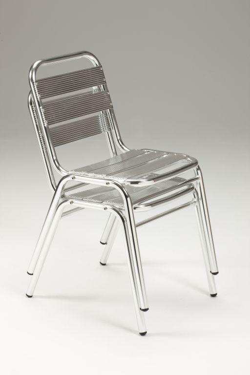 Sedia da esterno in alluminio anodizzato lucido malaga for Sedie in alluminio