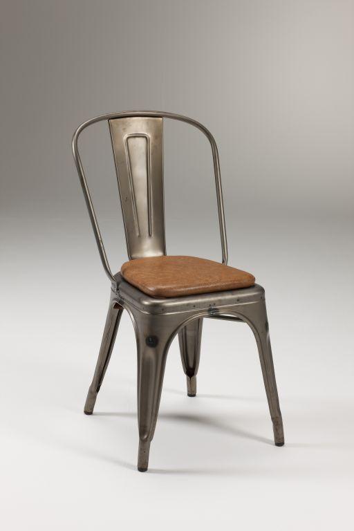 Sedia in metallo zincato fero for Sedie design metallo