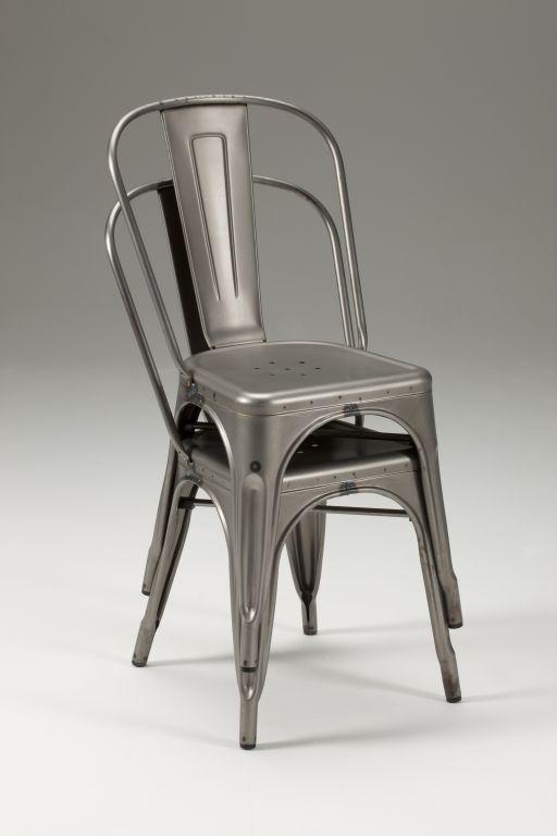 Sedia in metallo zincato fero - Sedia tolix storia ...
