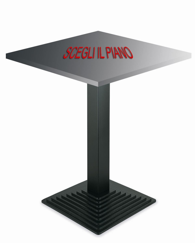 Base tavolo quadrato e rettangolare nero in metallo for Tavolo 40x40